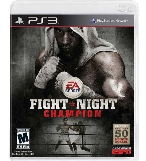 Jogo Ps3 Fight Night Champion (usado) Midia Fisica