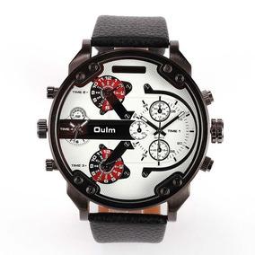 Relógio Masculino Dual Time Grande 5,7 Cm Promoção