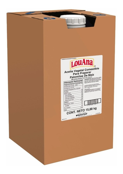 Aceite Mantequilla Louana Palomitas 15.88 Kg. Envio Gratis