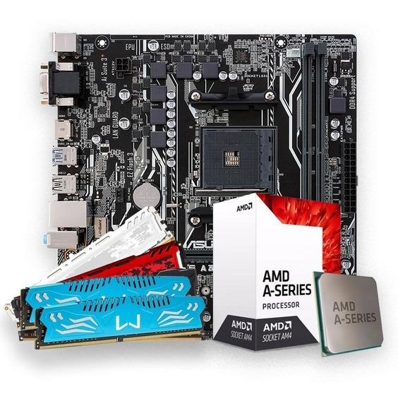 Kit Upgrade, Amd A10-9700, Mb A320m, 8gb Ddr4
