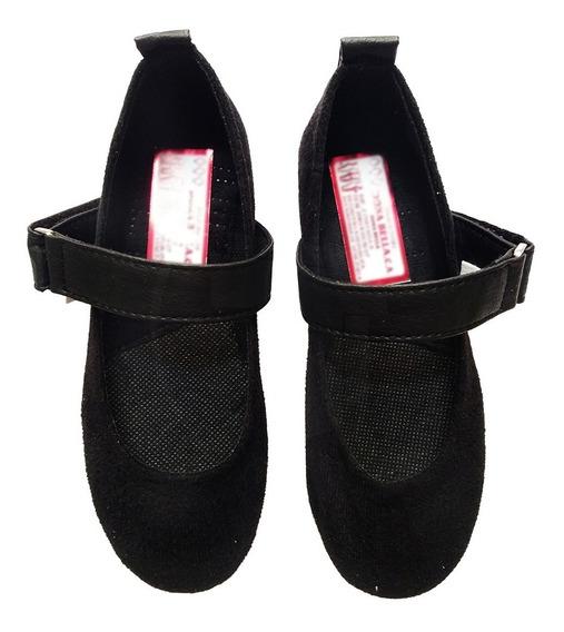 Zapatos Escolares Colegiales Niña Talla 34 Negro 2001n34