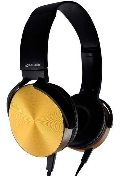 Headphone Extra Bass Com Fio Mdr-xb450 Dourado