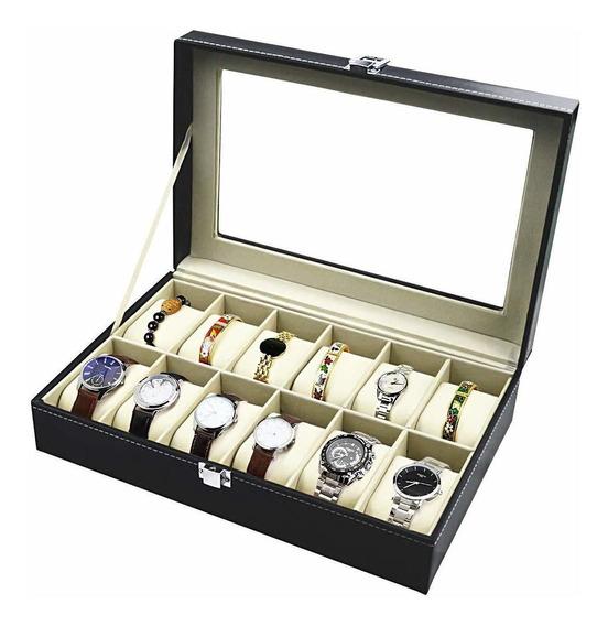 Estuche Caja Exhibidora Para 12 Relojes