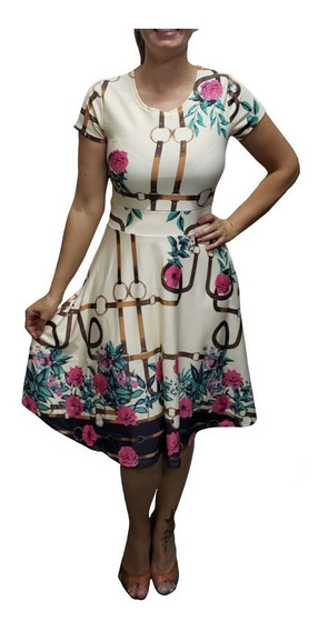 Kit 5 Vestido Godê Moda Evangélica Rodado Plus Size