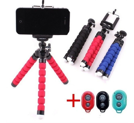 Mini Tripé Flexível Para Câmera De Celular C/controle