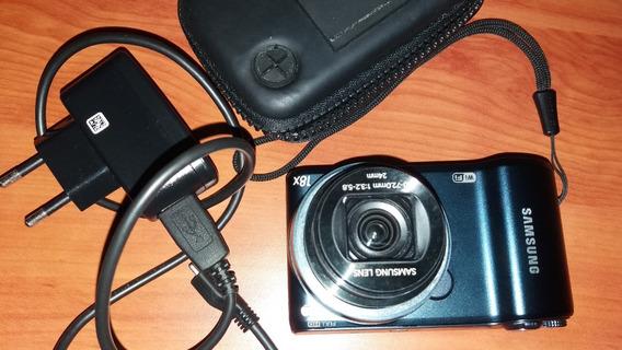 Câmera Fotográfica Samsung Com Cartão De Memória