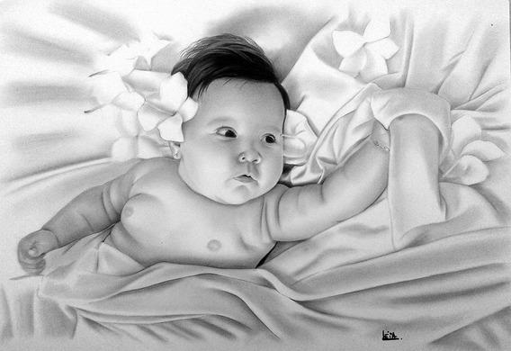 Desenhos Realistas Por Léia Olliver - Tamanho A3