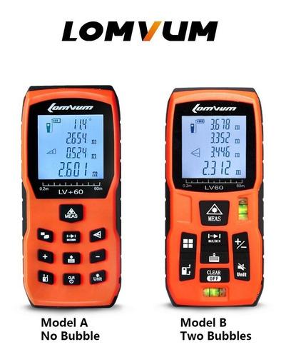 Imagen 1 de 5 de Medidor De Distancia Laser  Wincha Laser- Lomvum - 50 Metro