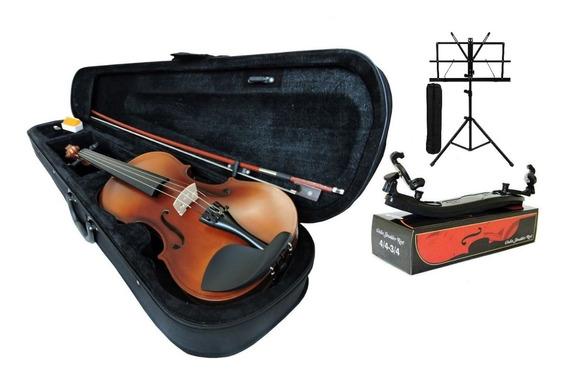 Viola De Arco Oliver Strings Tamanho 4/4 Completa + Acessóri