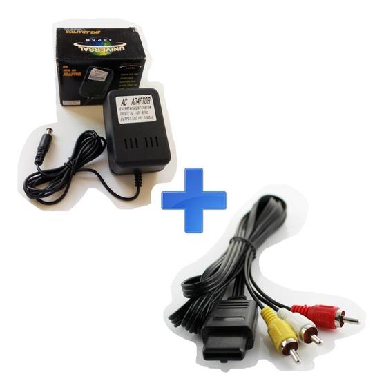 Kit Super Nintendo Snes - Fonte + Cabo Av