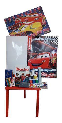 Tablero Infantil Borrable + Super Kit Dibujo Pintura