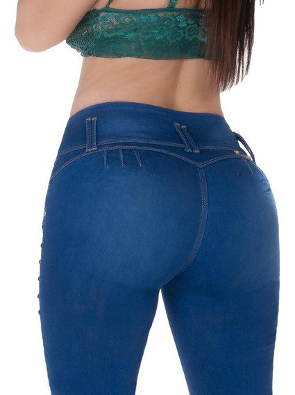 3 Jeans Dama Levanta Pompa Colombiano Push Up Mayoreo Mezcli