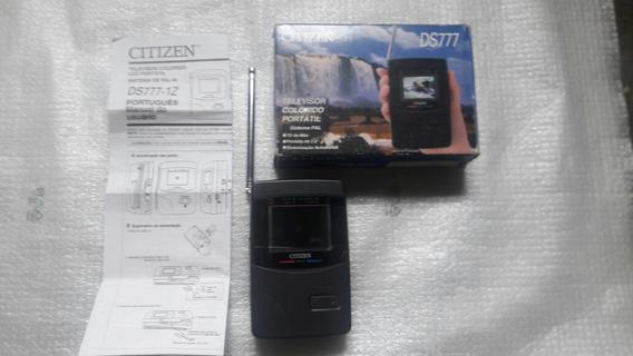 Tv Portátil De Mão Colorida Vhf/uhf, Citizen Ds 777