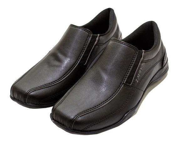 Zapato Hombre Mocasín Símil Cuero Base De Goma