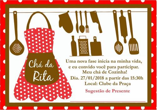 Imagem 1 de 1 de Convite Chá De Panela Personalizado Mod4  20uni