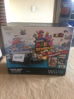Nintendo Wii U Super Mario 3d World Deluxe Set 32gb + Juegos