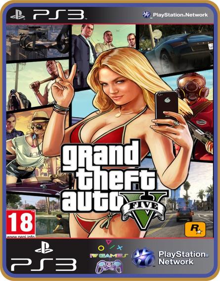 Gta 5, Ps3, Psn, Midia Digital,jogo Completo