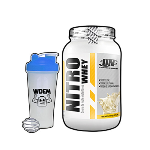 Nitro Whey 1,25kg Proteína De Suero De Leche + Shaker!
