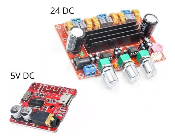 Kit Amplificador 2.1 Potência 200wrms + Placa Bluetooth