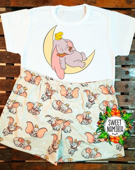 Pijama De Verano Dumbo Adultos - Niños