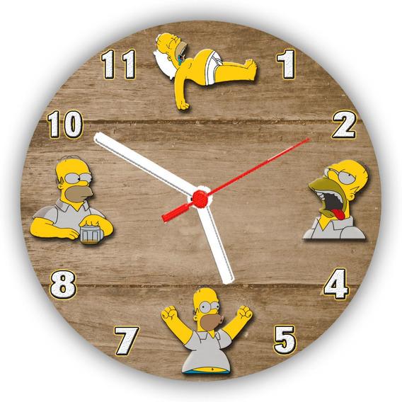 Relógio Parede Bar Cerveja Duff Homer Simpsons - 50 Cm