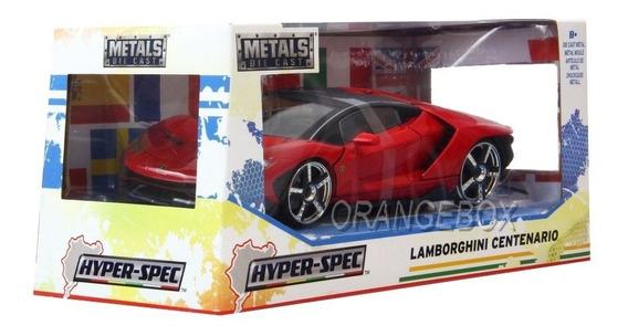 Lamborghini Centenario 2017 Jada Hyper Spec 1:24 Vermelho