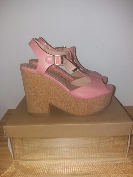 Sandalias Plataforma Zapato Daniel Cassin! Talle 36! Rosa