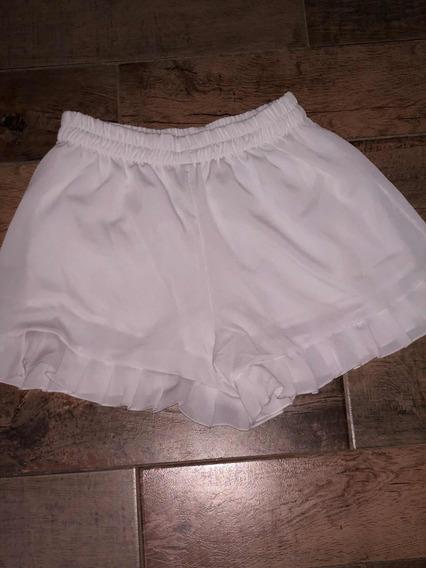 Short De Gasa Blanco, Talle S