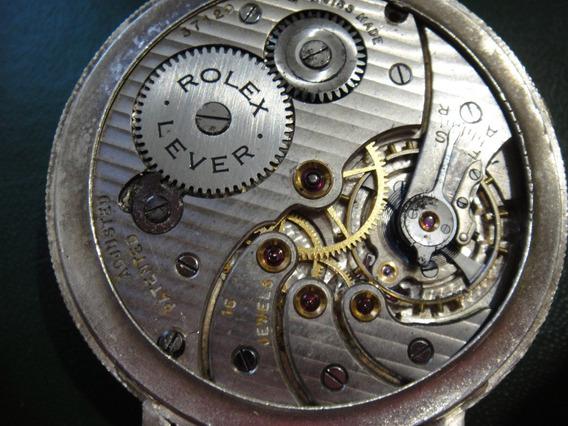 Relogio Rolex.vintage,todo Original.5 Rubis.47mm.prata 0.925