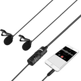 Microfone De Lapela Duplo Boya By-m1dm 4 Metros 12x S/juros