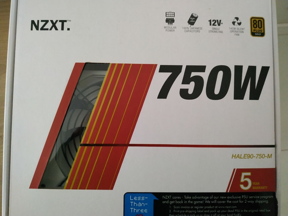Fonte Nzxt 750w 80 Plus Gold Semi Modular