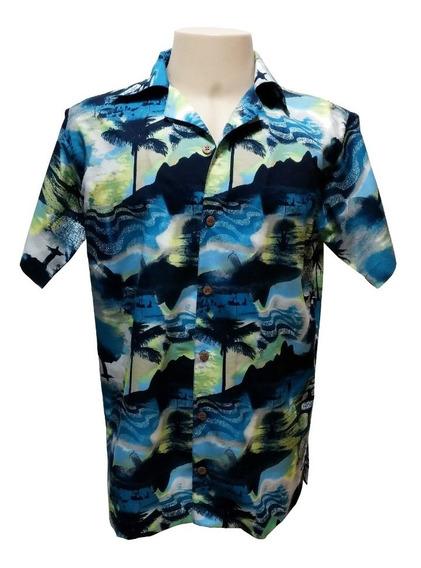Camisa Masculina Hawaiana 0207 (verifique Medidas)