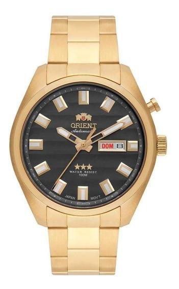 Relógio Orient Automático Dourado Calendário 469gp076 G1kx