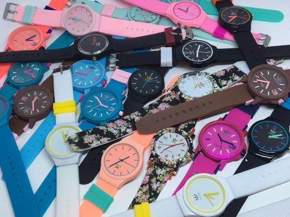 Kit 5 Relógio Feminino Silicone Colors+brind Revenda
