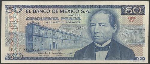 Imagen 1 de 2 de Mexico 50 Pesos 27 Ene 1981 Serie Jv P73