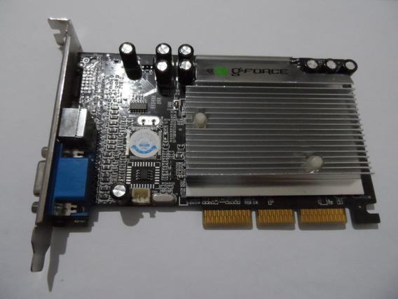 Placa De Video Agp De 64 Mb - Gf Mx4000 Ddr Tv Card