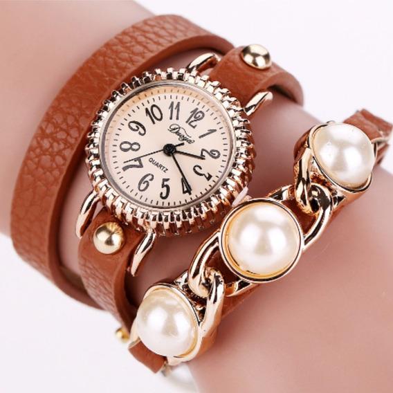 Relógios Pulseira Feminino Pérola De Crista