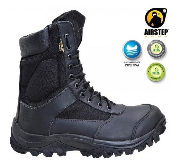 Bota Lightness Confort Airstep - Ref 8627-1 Black