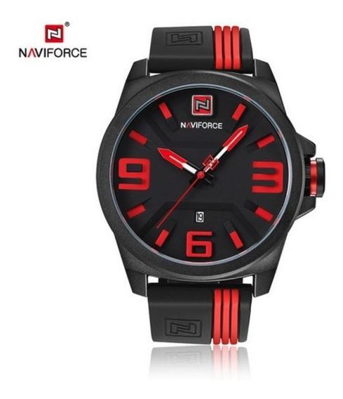 Relógio Masculino Original Naviforce Borracha Esportivo Top!