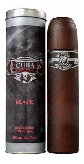Perfume Cuba Black 100 Ml - Lacrado - Selo Autenticidade Adipec