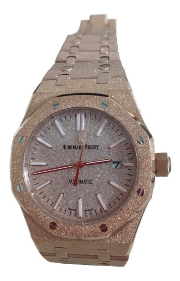 Reloj Audemars Piguet Royal Oak Frosted Oro Rosa Cuarzo