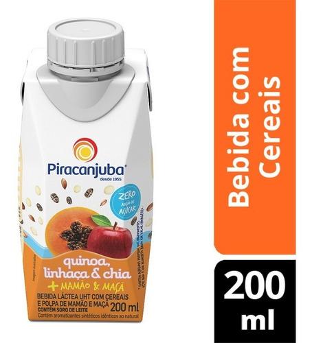 Bebida Quinoa Com Cereais Mamão E Maçã Zero Açúcar 200ml