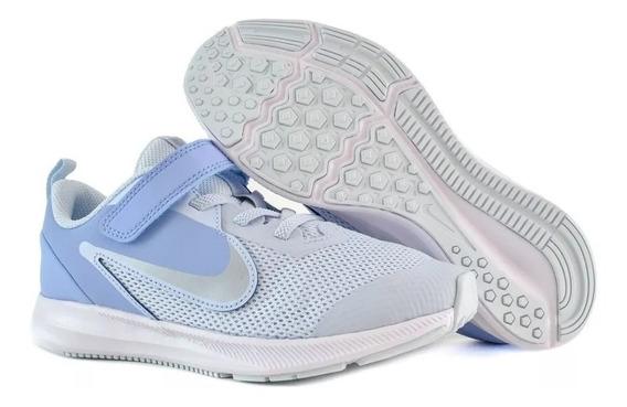 Tenis Nike Downshifter 9 Azul Niñas Casual Urban Originales