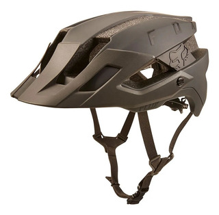 Capacete Bike Fox Racing Flux Solid Dirt - Marrom - Oficial