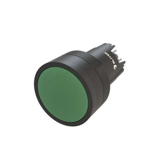 Botão Pulsador Verde - Kit Com 20 Peças