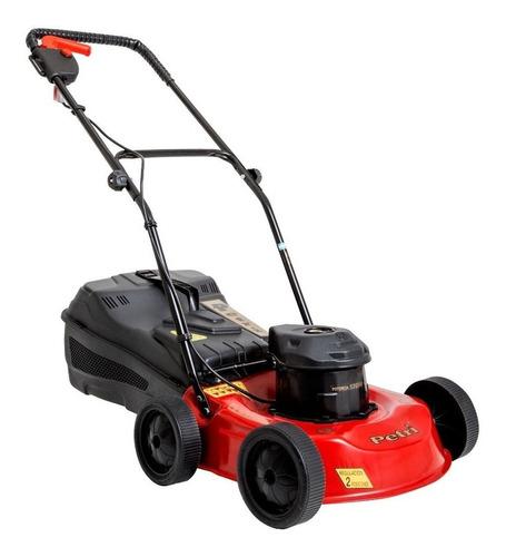 Cortadora de pasto eléctrica Petri 3005072 con bolsa recolectora 1 hp roja y negra 220V