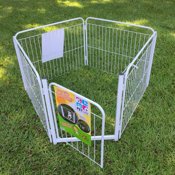 Casinha Cachorros Cercado Pet Filhote Cão 4/90cm +portão+kit