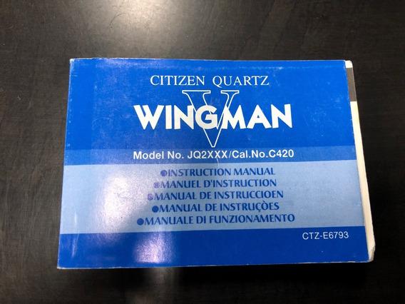 Citizen Wingman Iv Manual Completo Original Raro