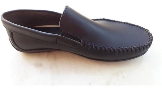 Zapatos De Hombre 100% Cuero Mocasines Náuticos Casual 2019