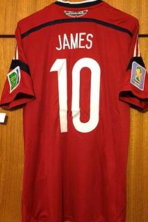 Camisa Colombia Copa 2014 James #10 Vs Brasil Jogador